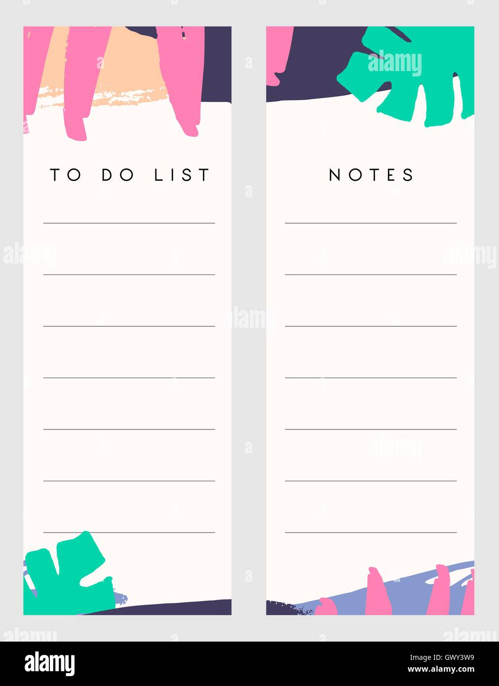 photo about Notes Template Printable called Printable notes and toward do checklist template types embellished