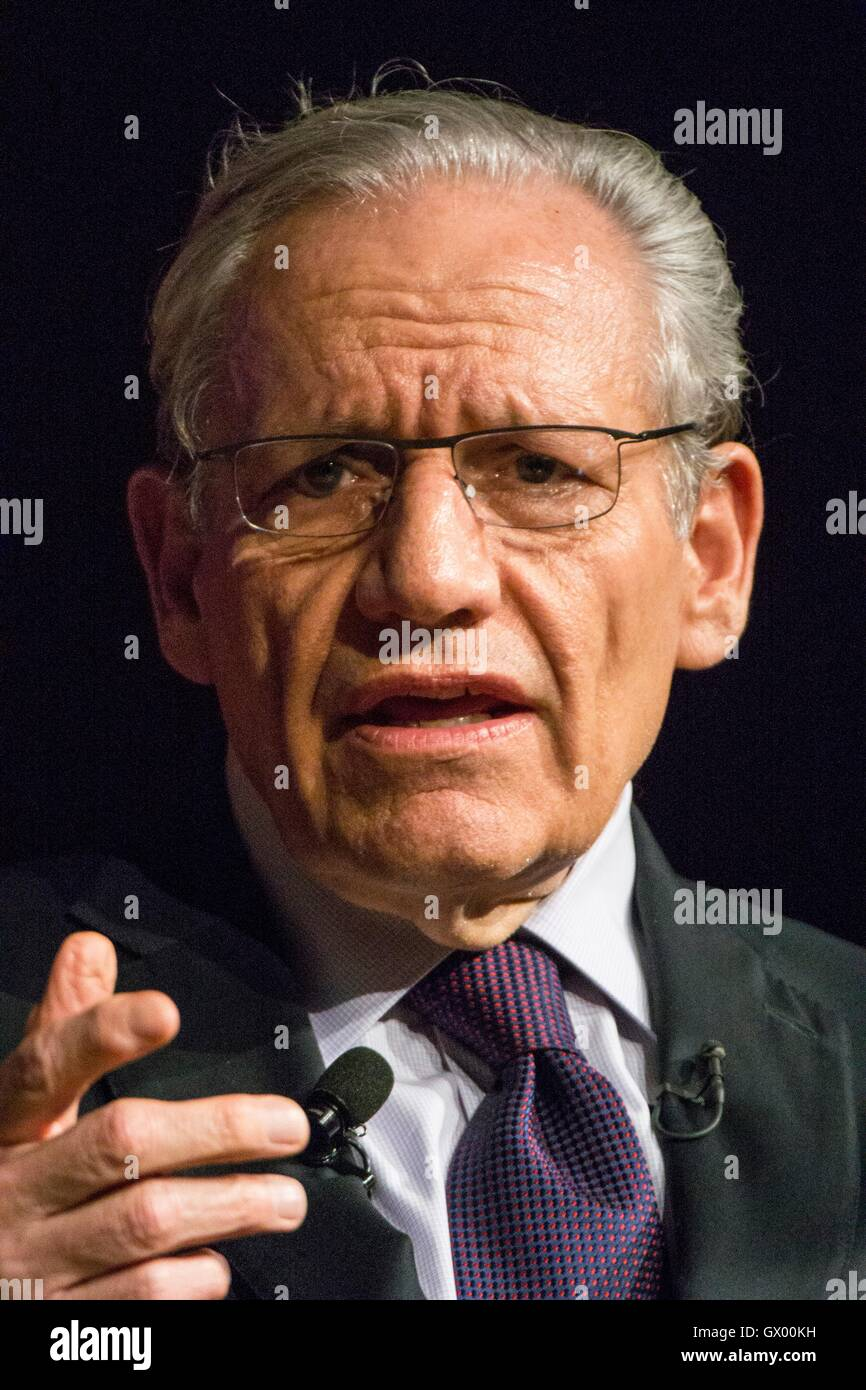 Journalist Bob Woodward at an event at the LBJ Presidential Library March 2, 2016 in Austin, Texas. Stock Photo