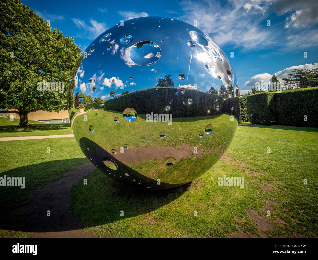 Moon, 2015 by Swiss artist Not Vital, at Yorkshire Sculpture Park, near Wakefield, England, UK. - Stock Image