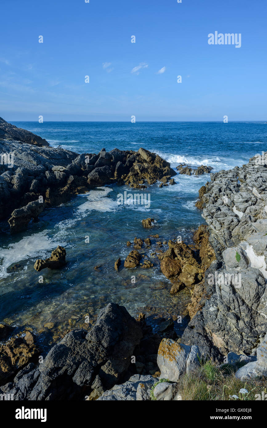 Bay Biscay Landscape Cantabria Spain Stock Photos & Bay ...