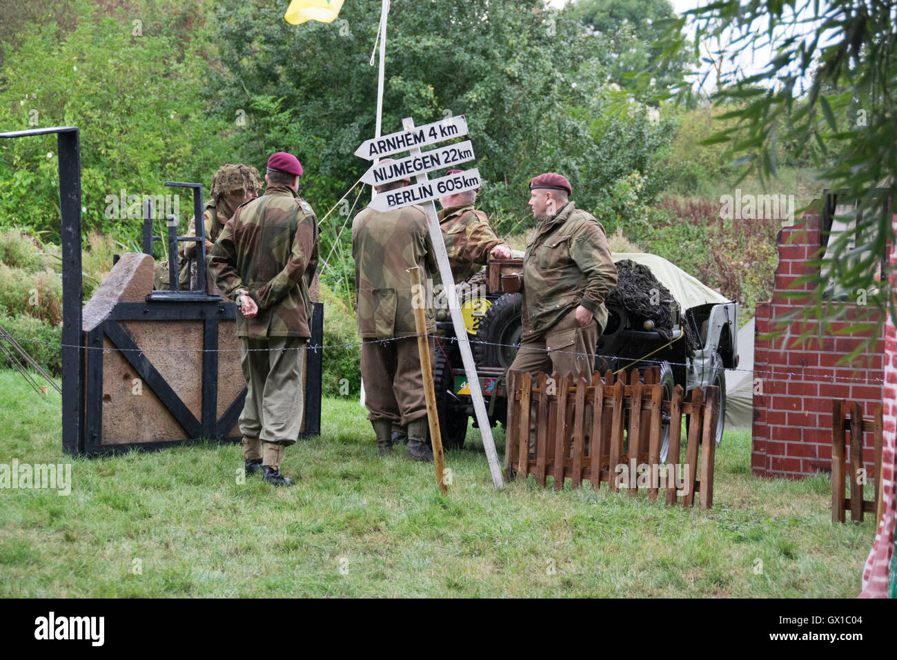 Stoke Bruerne Village at War 2016 - Stock Image