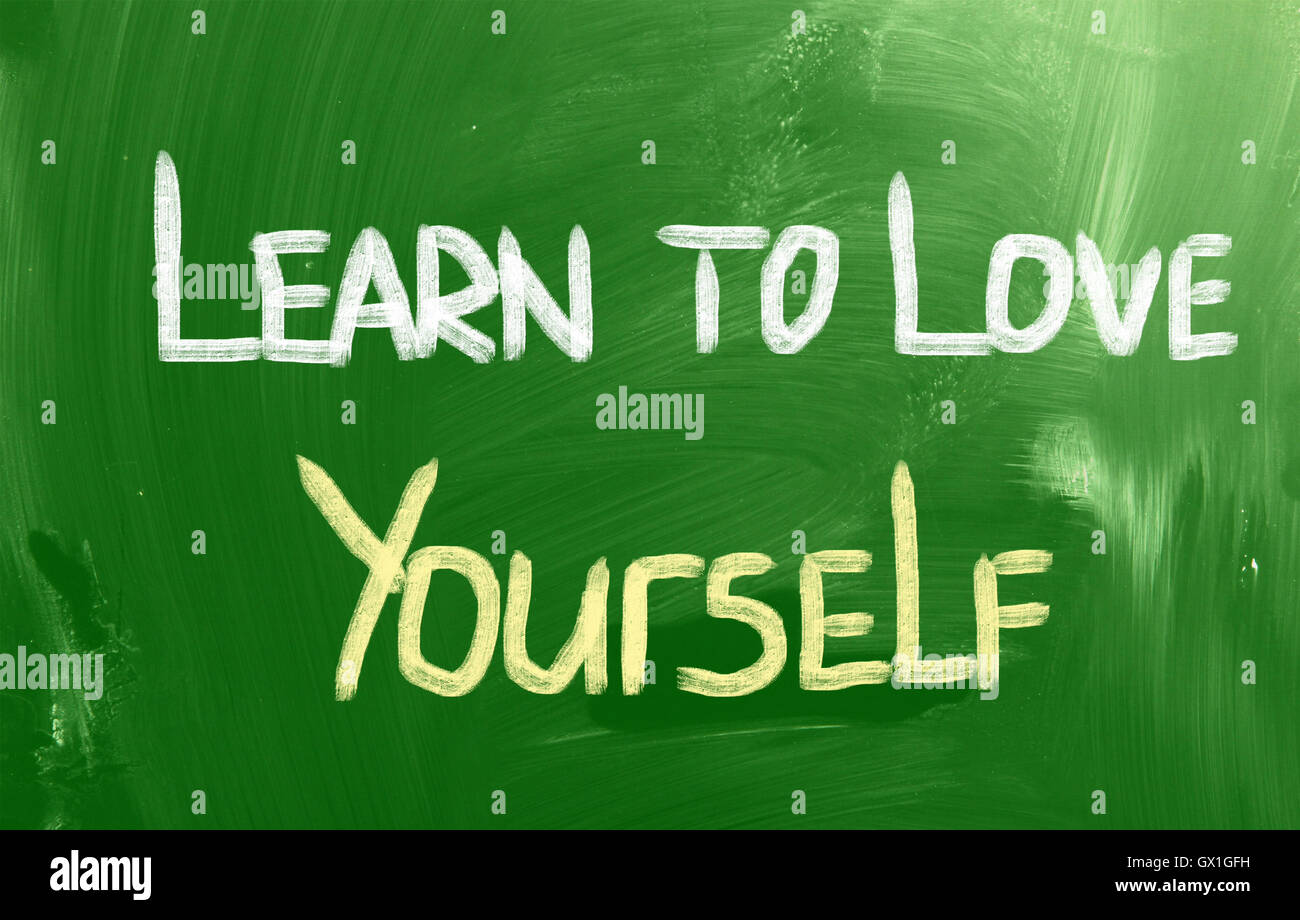 Learn To Love Yourself Concept Stock Photo