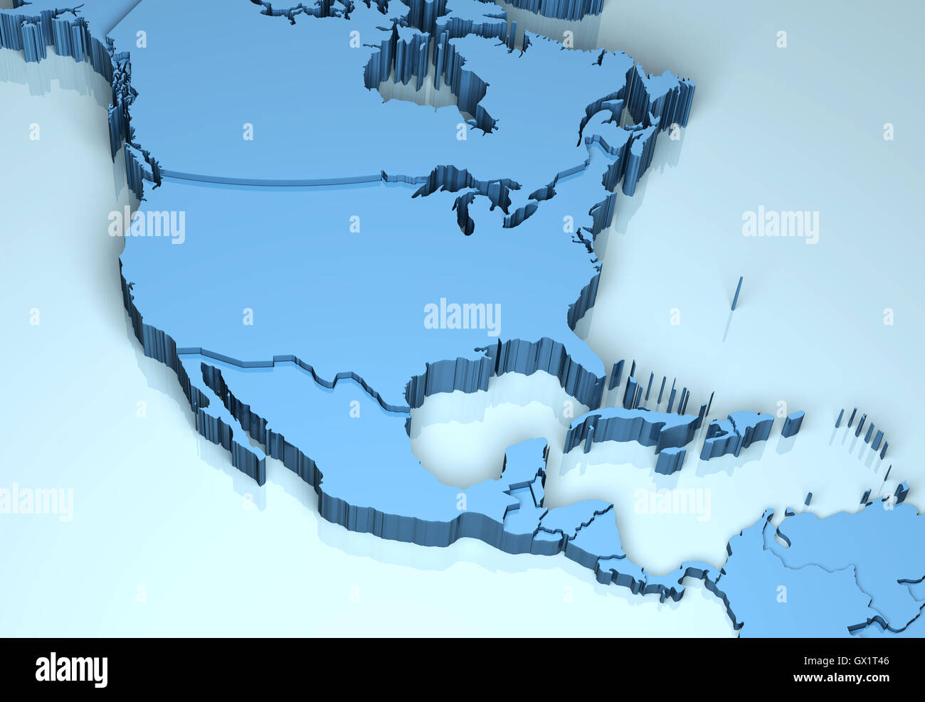 North Central America 3D Stock Photo: 119284150 - Alamy