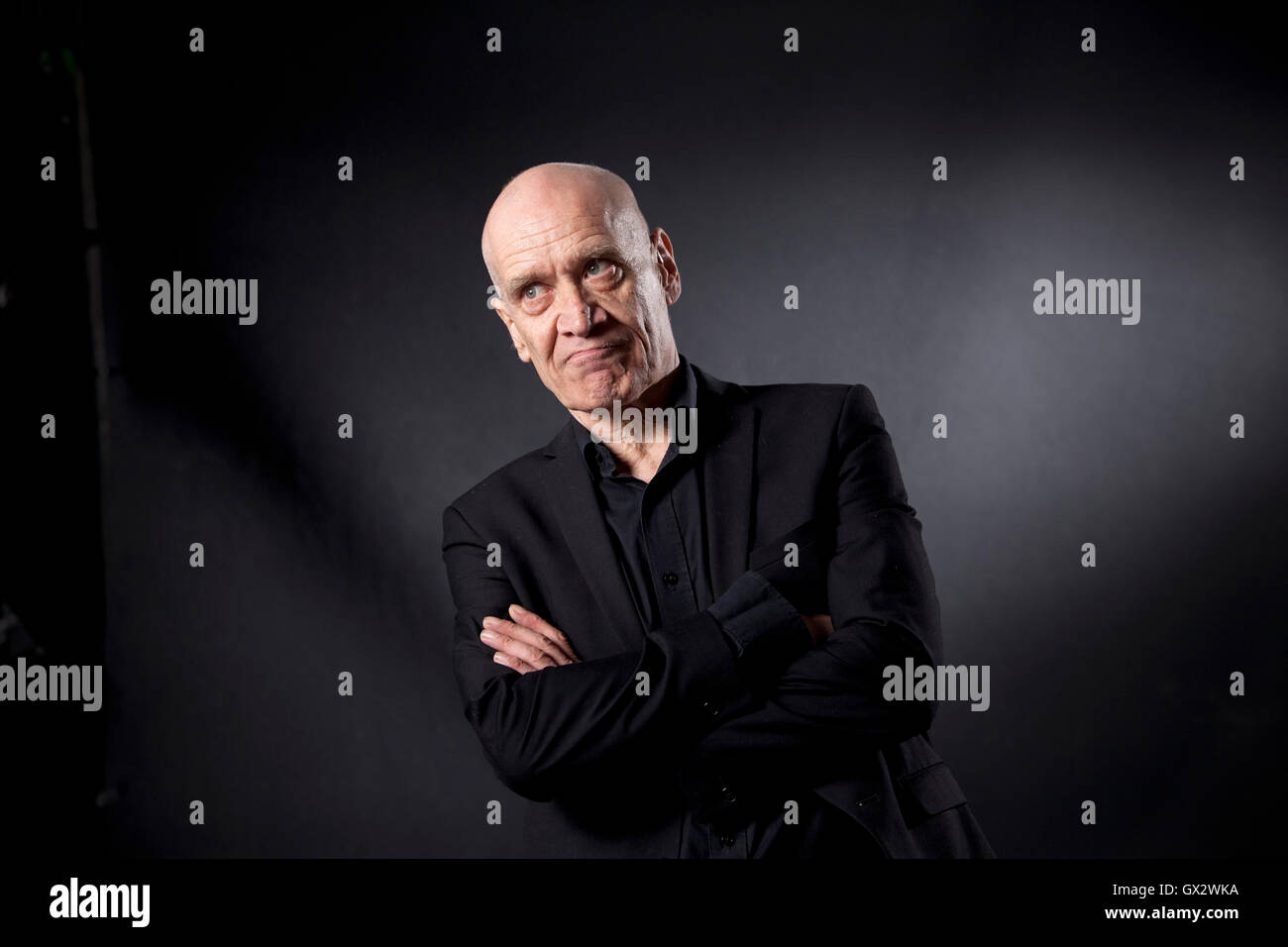 Wilko Johnson, the English singer, guitarist, songwriter and author, at the Edinburgh International Book Festival. - Stock Image