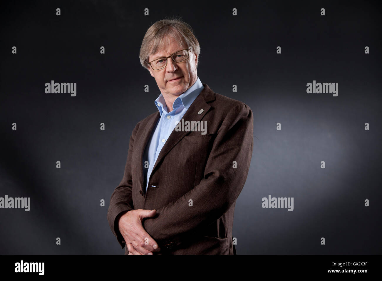 Paul Cartledge, the British ancient historian and academic, at the Edinburgh International Book Festival. Edinburgh, - Stock Image