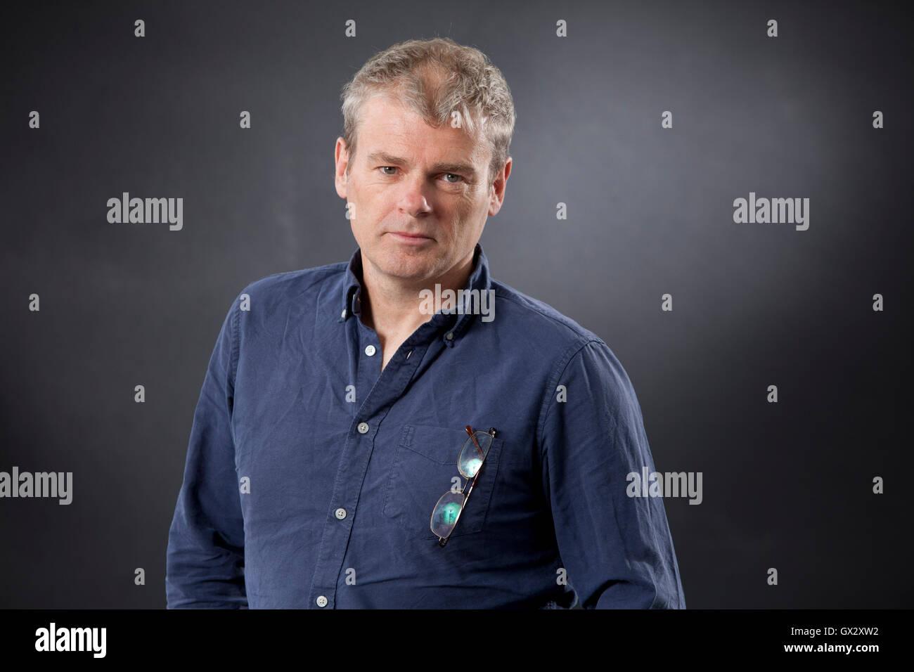Mark Haddon, the English novelist, at the Edinburgh International Book Festival. Edinburgh, Scotland. 23rd August - Stock Image