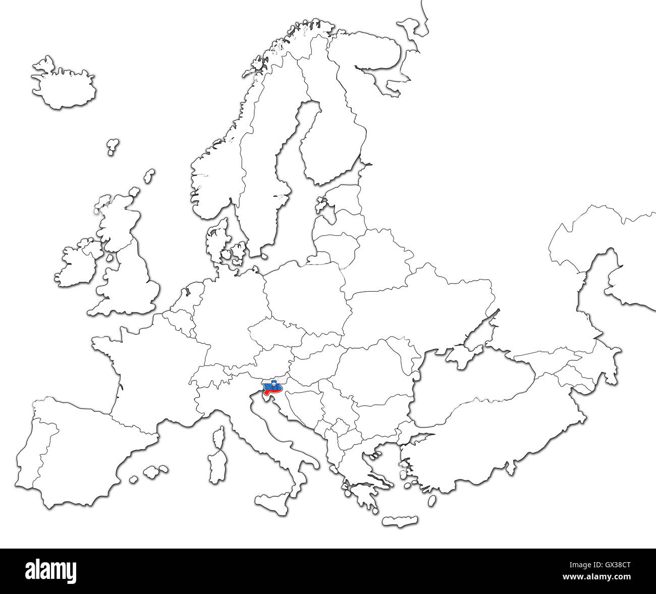 Map of Slovenia - Stock Image