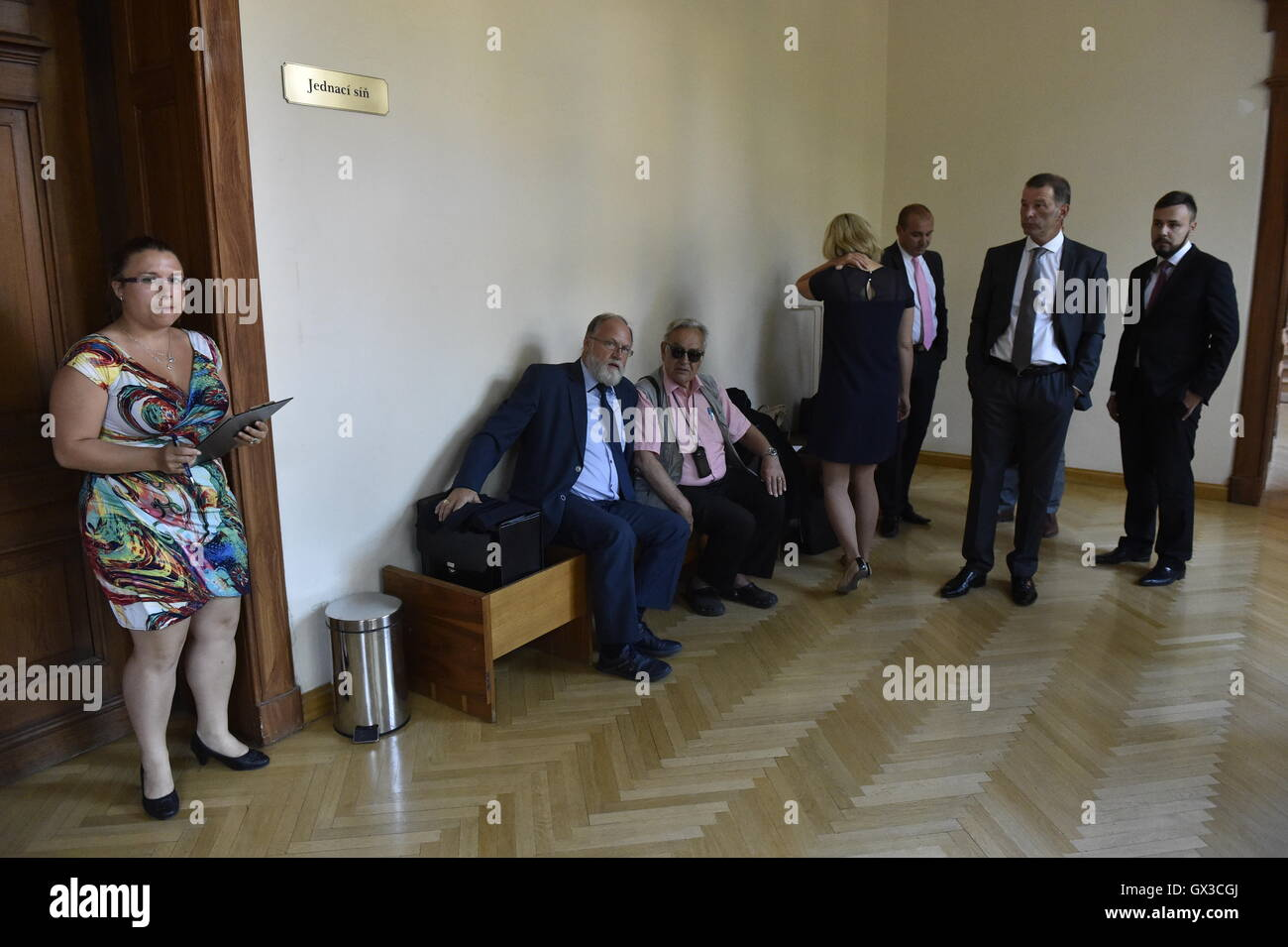 Brno, Czech Republic. 15th Sep, 2016. Trial of businessman Shahram Abdullah Zadeh (not pictured) and accomplices - Stock Image