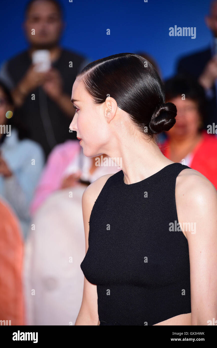 Toronto, Ontario, Canada. 15th Sep, 2016. Actress ROONEY MARA attends 'The Secret Scripture' premiere during - Stock Image