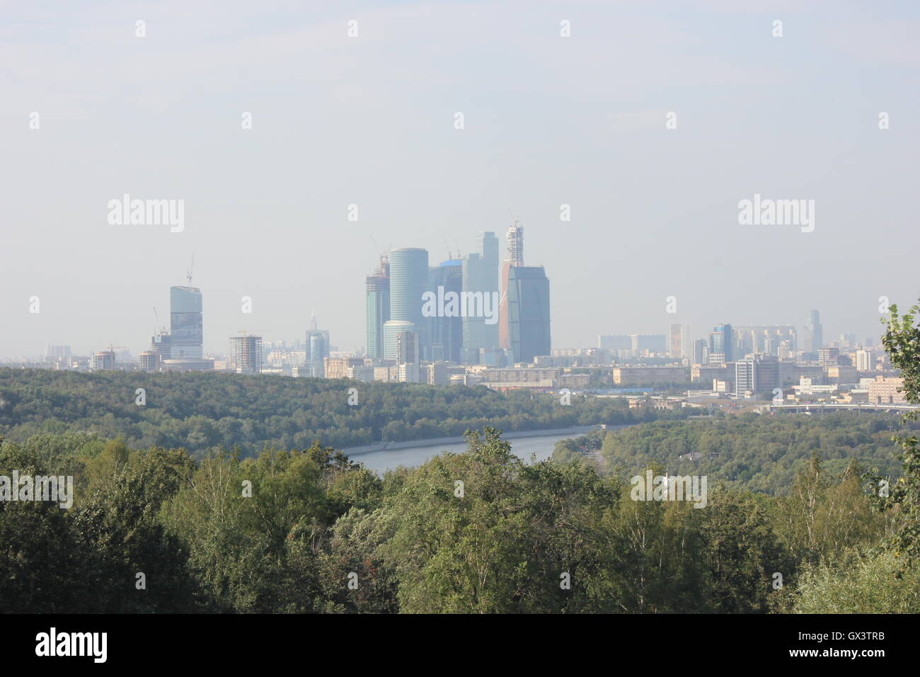 Moscow, Vorobyevy Gory: observation deck 14