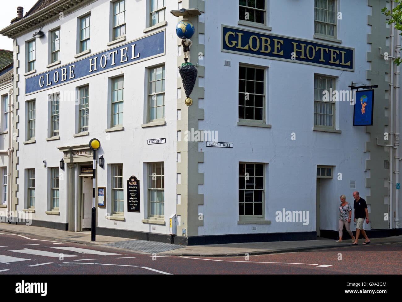 The Wetherspoons Globe Hotel, Kings Lynn, Norfolk, England UK - Stock Image