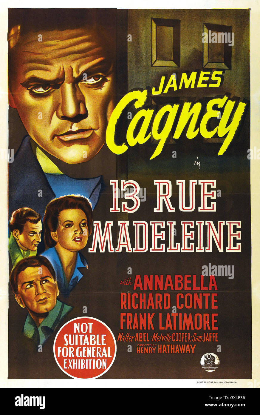 13 RUE MADELEINE 1947  20th Century Fox film with James Cagney - Stock Image