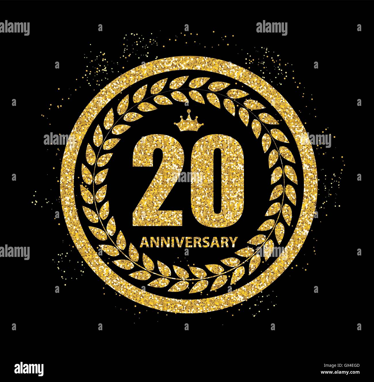 Template Logo 20 Years Anniversary Stock Photos Template Logo 20
