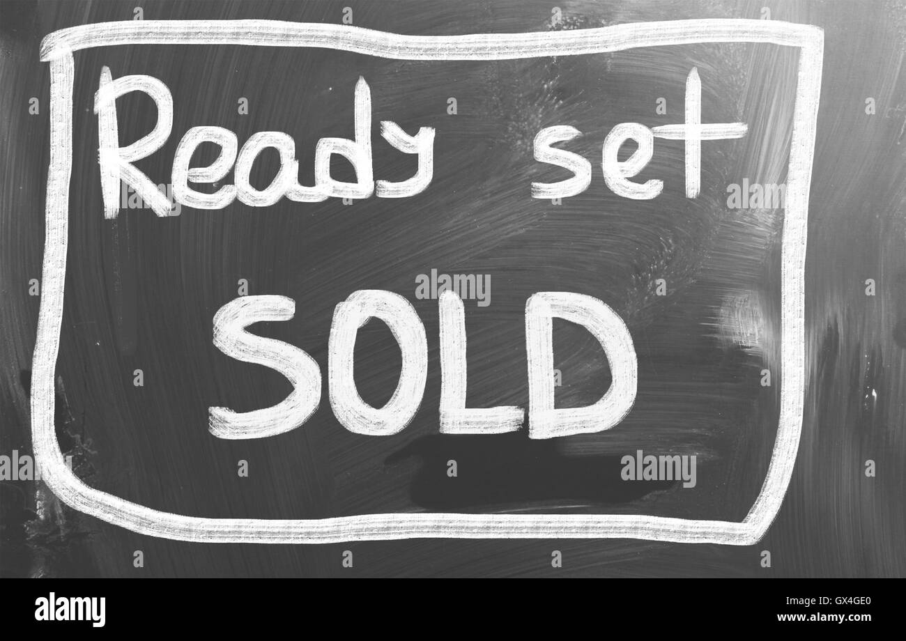Ready Set Sold Concept - Stock Image