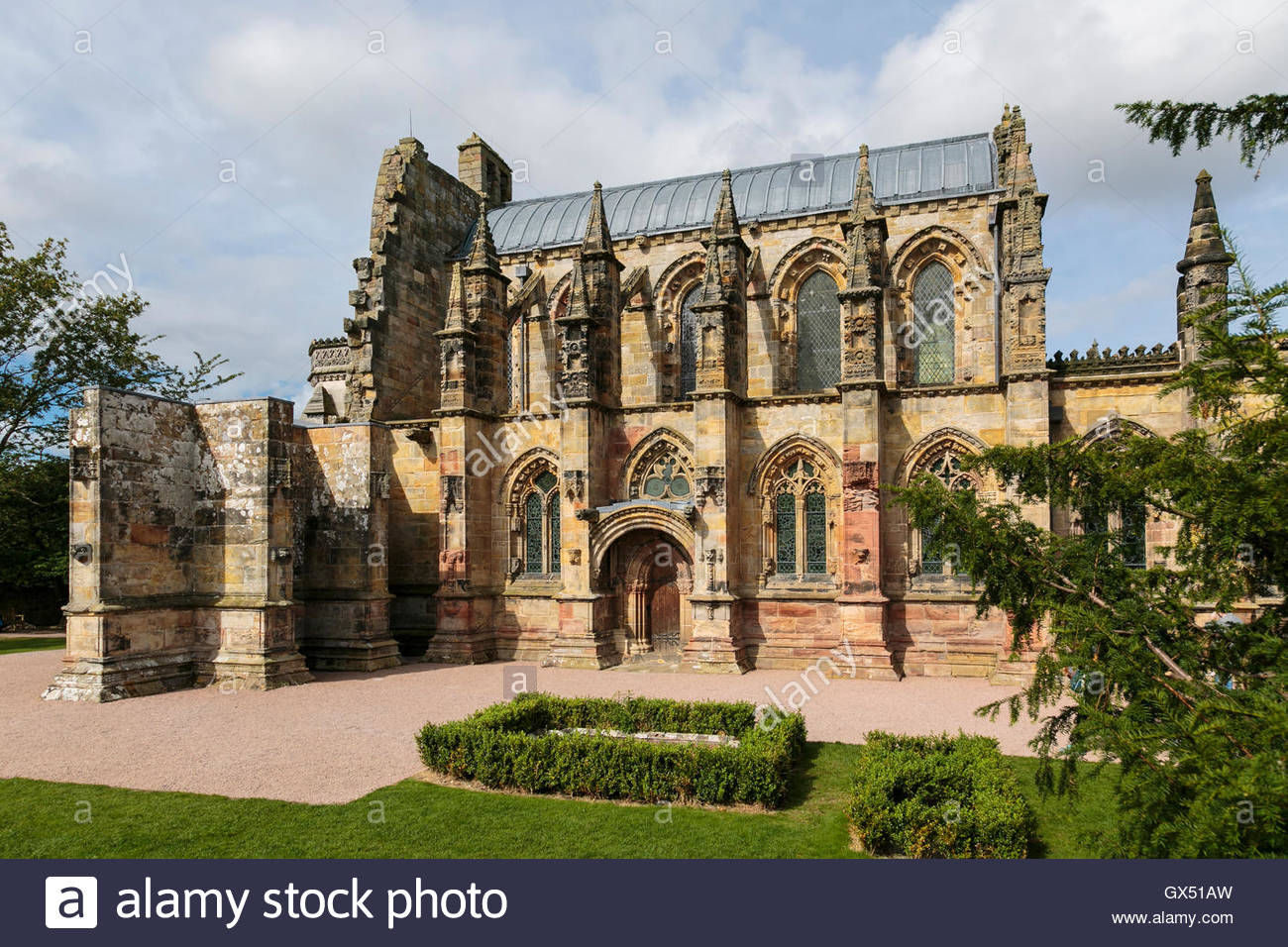The enchanting Rosslyn Chapel on the outskirts of Edinburgh in the small village of Roslin. - Stock Image
