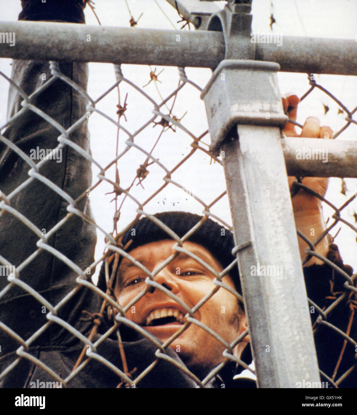 ONE FKLEW OVER THE CUCKOO'S NEST 1975 United Artists film with Jack Nicholson - Stock Image