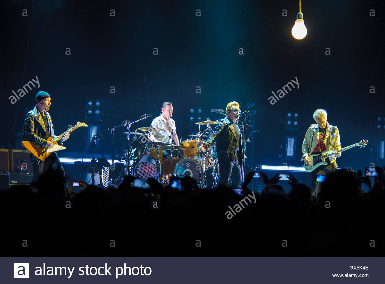 U2 performing live at 3Arena, Dublin, Ireland on November 24th 2015 © Shaun M. Neary - Stock Image