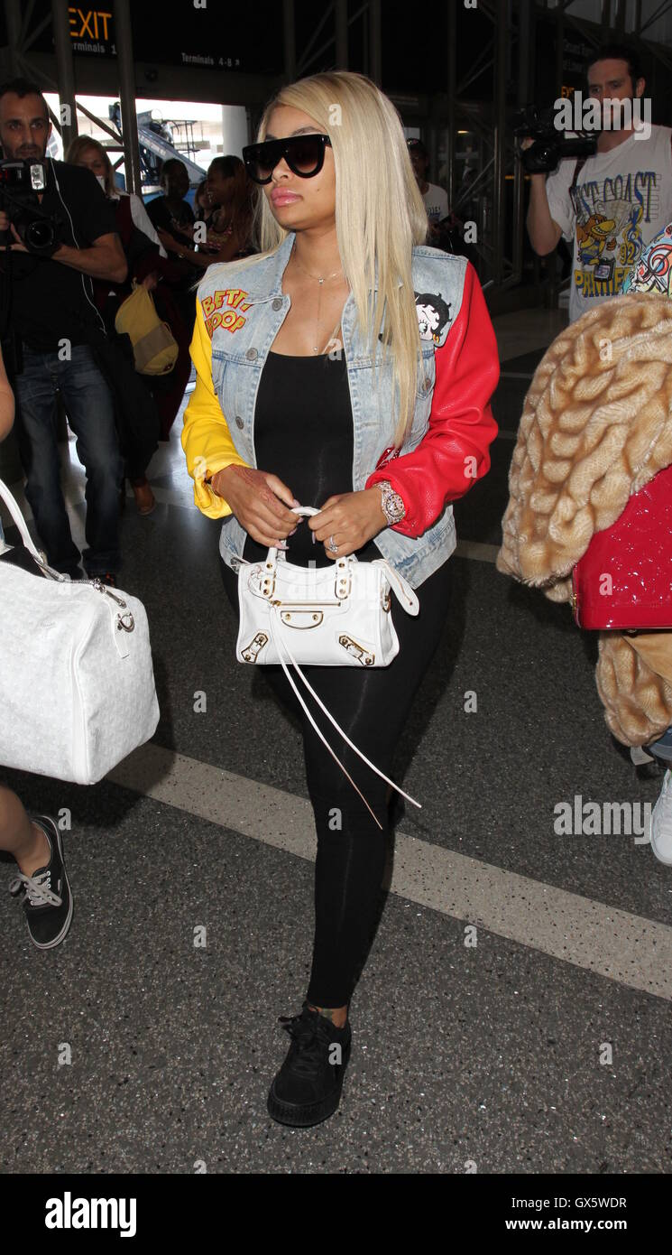 9f224fa915b Blac Chyna arrives at Los Angeles International Airport Featuring  Blac  Chyna Where  Los Angeles