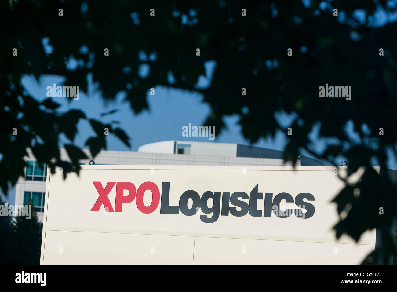 A logo sign outside of a facility occupied by XPO Logistics, Inc., in Dublin, Ohio on July 23, 2016. - Stock Image