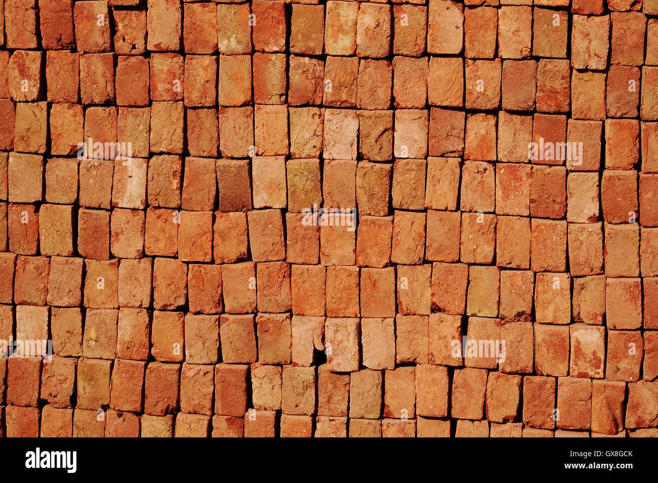 Orange Brick - Stock Image