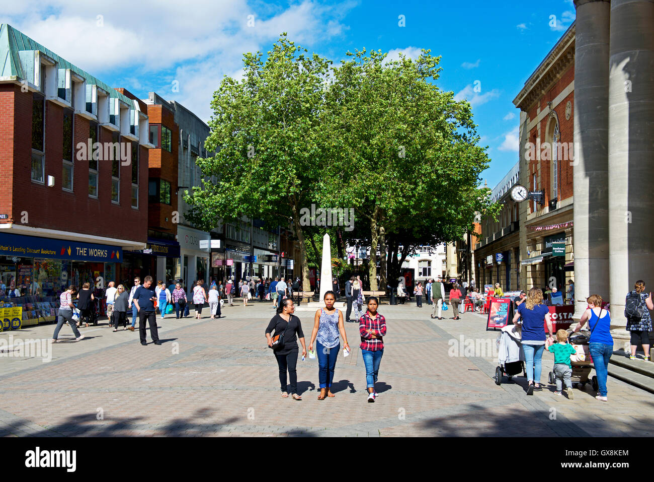 The city centre, Peterborough, Cambridgeshire, England UK - Stock Image