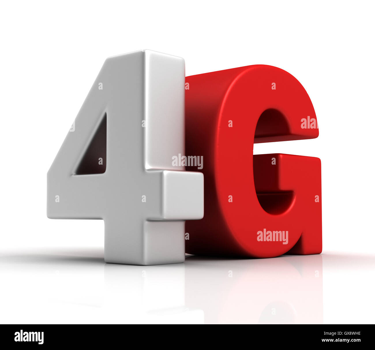 4G text concept  3d illustration - Stock Image