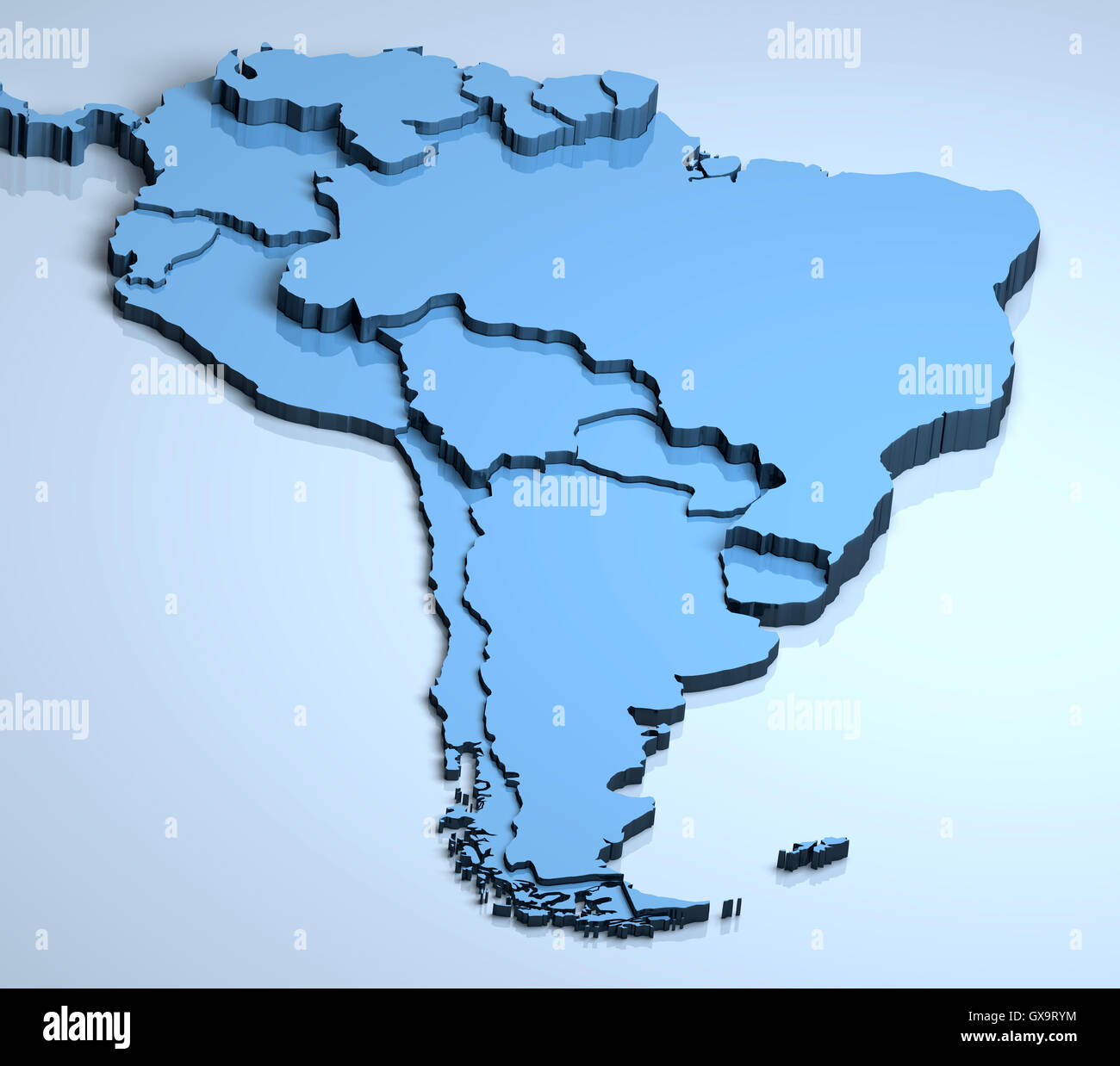 3d Map Of South America.South America 3d Stock Photo 119459640 Alamy