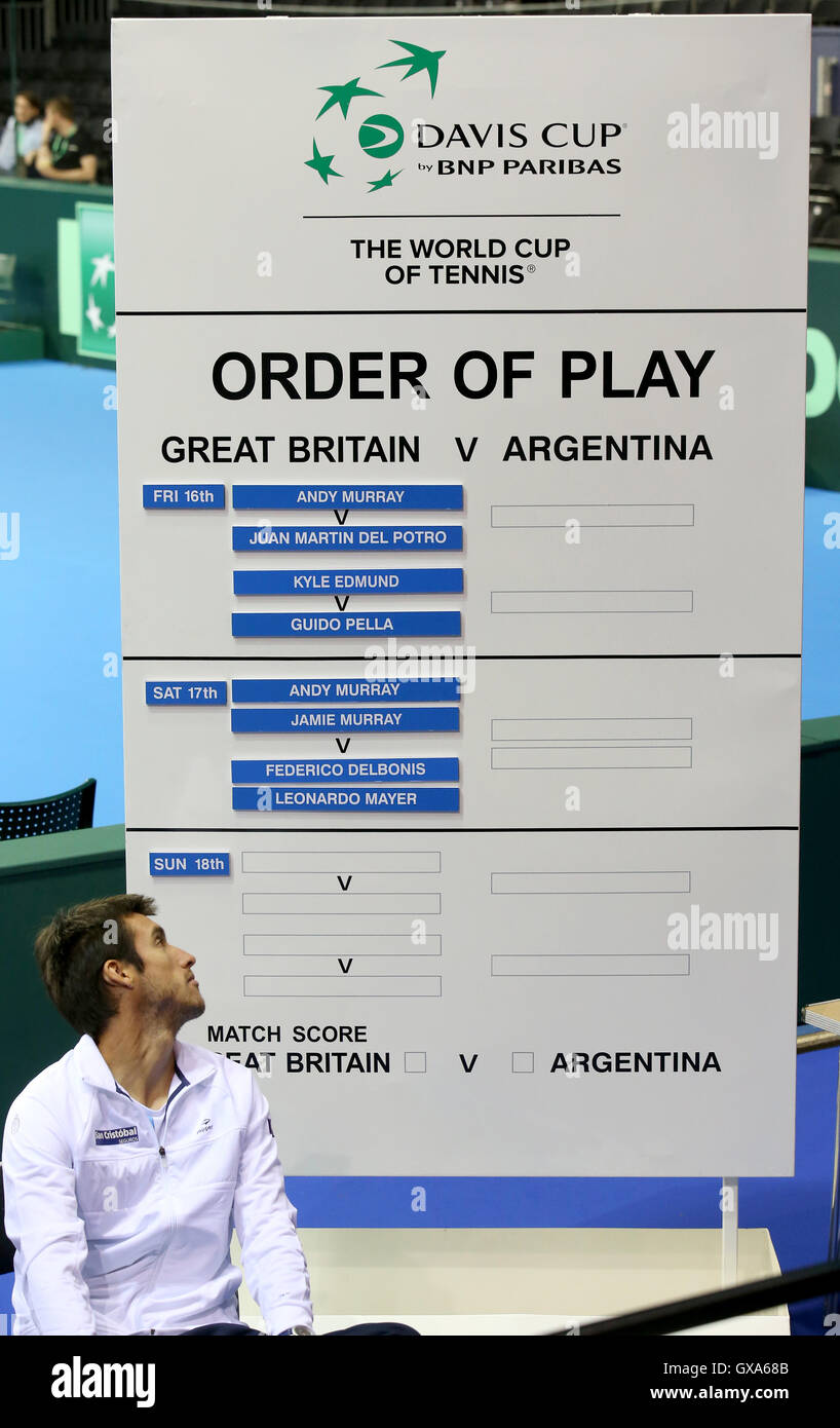 The order of play is finalized during the training session at the Emirates Arena, Glasgow. - Stock Image