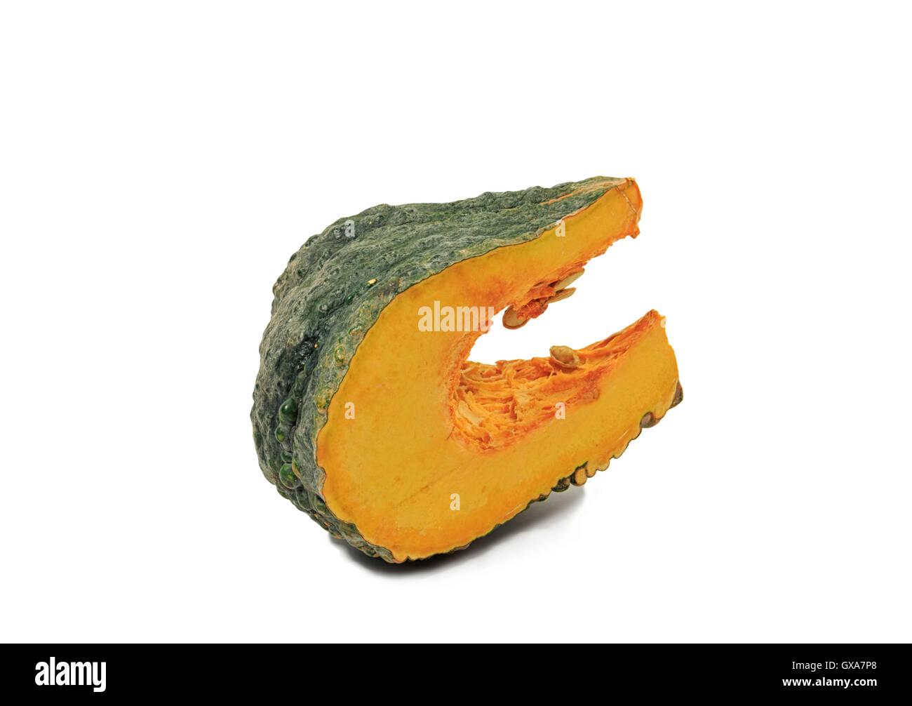 Pumpkin cut fruits using a variety of things. - Stock Image