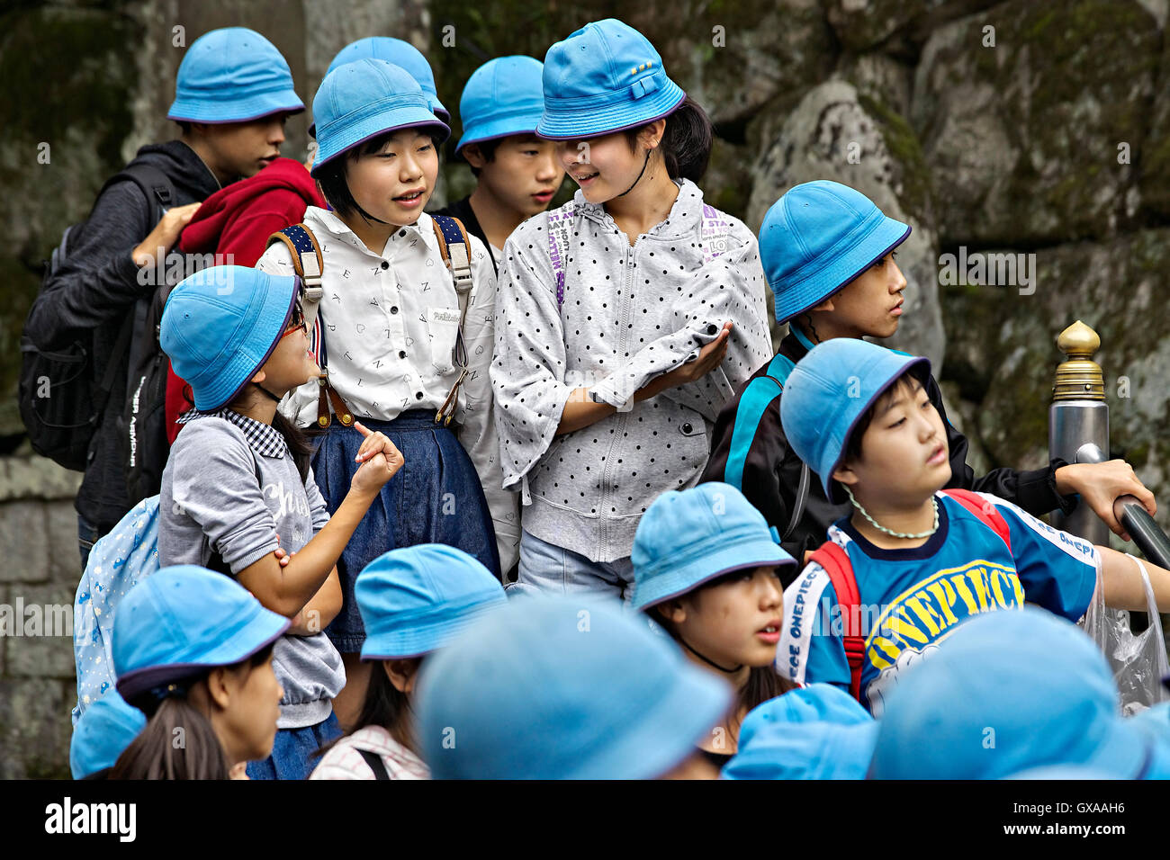 Japan, Honshu island, Kansai, Kyoto, schoolchildren. - Stock Image