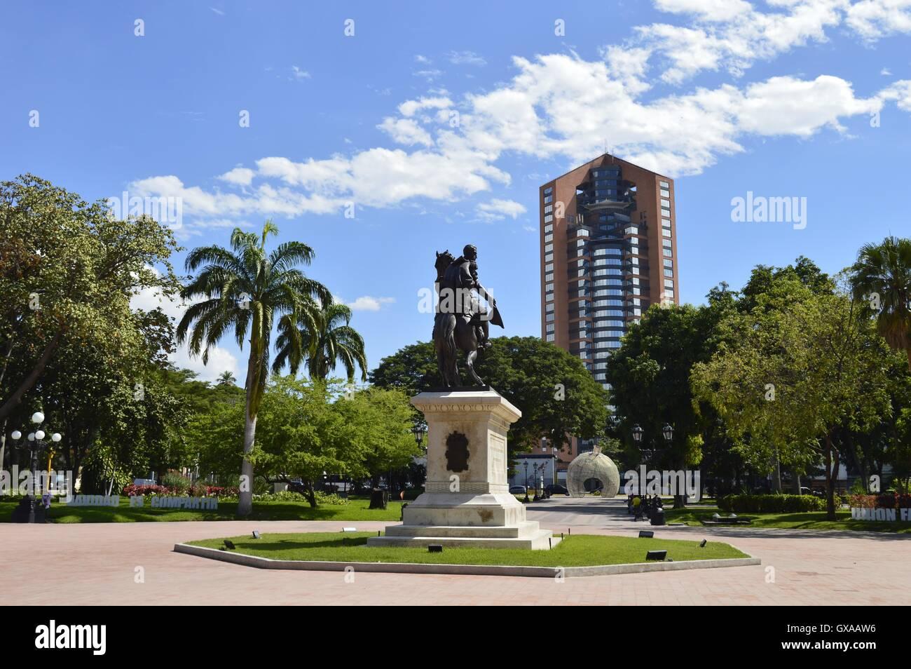 Simon Bolivar Square, in Maracay, Venezuela. - Stock Image