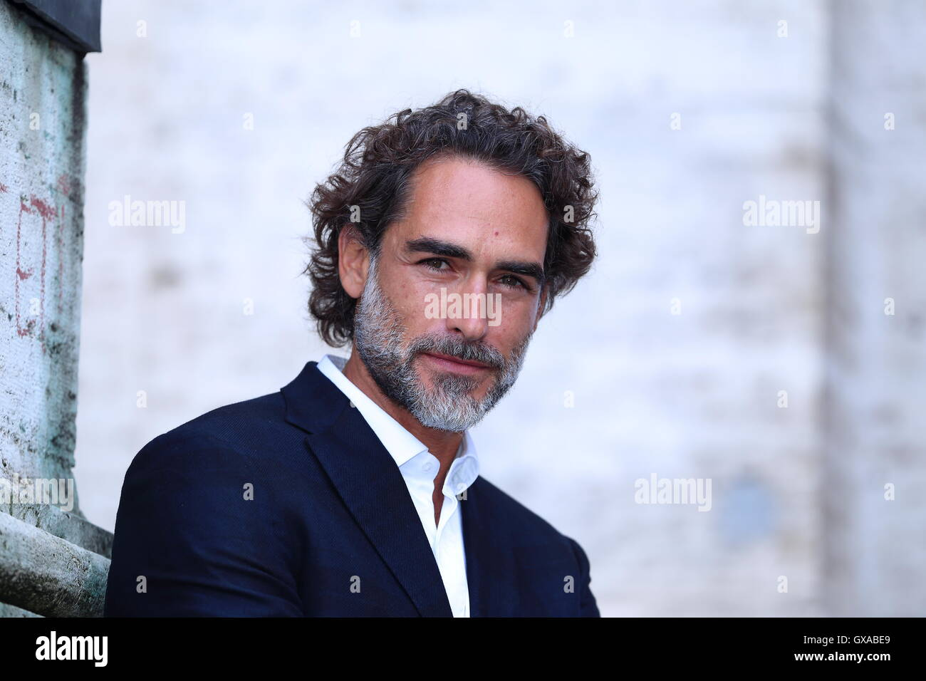 Rome, Italy. 15th Sep, 2016. Italian actor Sergio Muniz during photocall of the film Prima di Lunedì, the new film Stock Photo