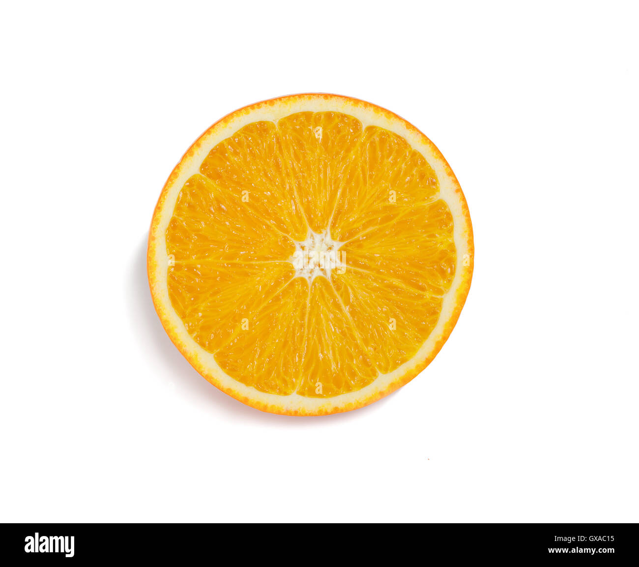 juicy tropical fruit orange on a white background - Stock Image