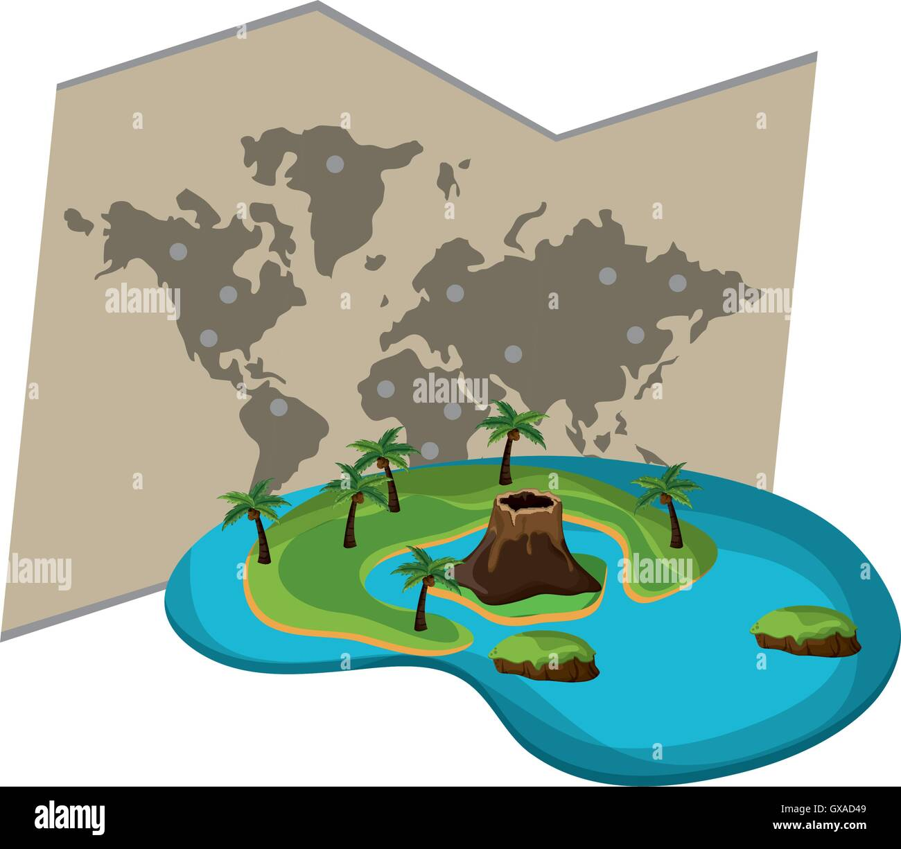 world map and tropical island icon Stock Vector Art ... on palm island map, sea island map, large island map, orange island map, fruit island map, tropical home, strawberry island map, peter island map, hawaiian islands map, sand island map, tropical islands germany, rugen island germany map, tropical resorts, caribbean map, tropical islands to visit, water island map, sunset island map, tropical islands around the world, tropical weddings, island nation map,
