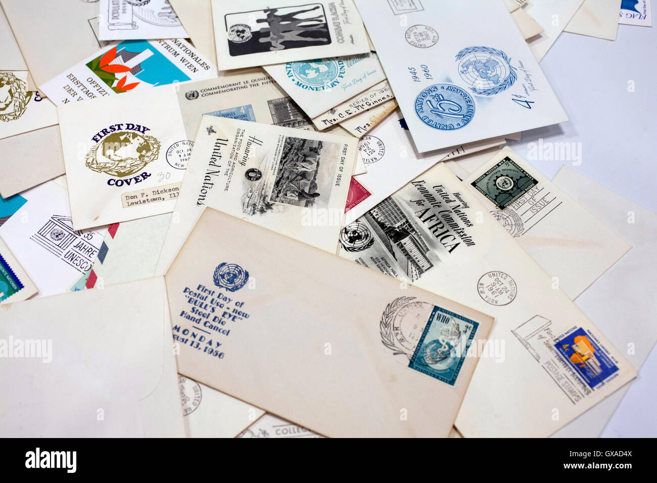 World Stamp Show-NY 2016 is the once-a-decade international celebration of stamp collecting in the NYC Javits Convention Stock Photo