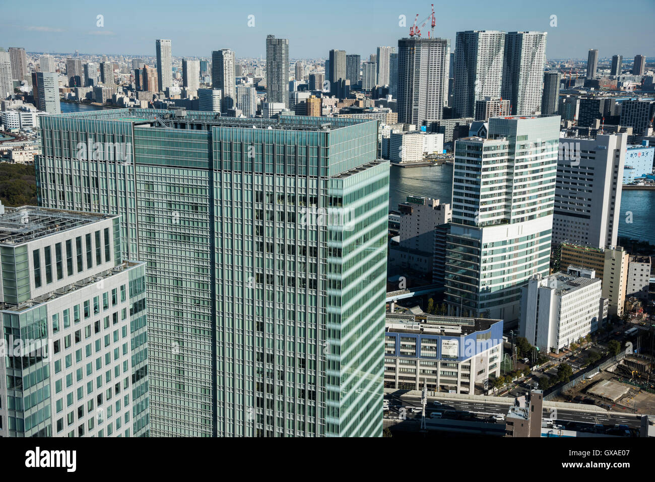 Odaiba direction,view from Minato-Ku,Tokyo,Japan Stock Photo