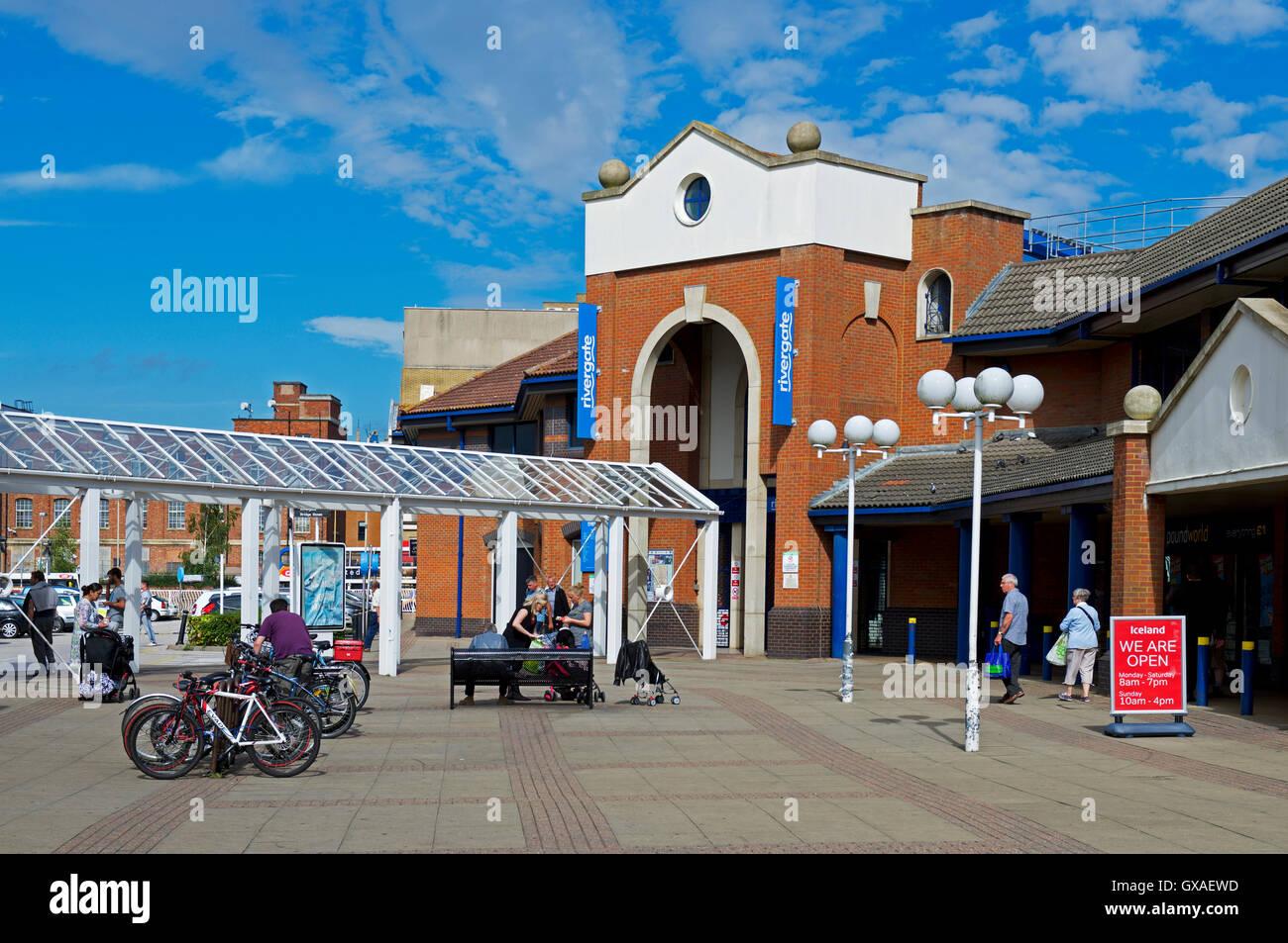 Rivergate shopping centre, Peterborough, Cambridgeshire, England UK - Stock Image