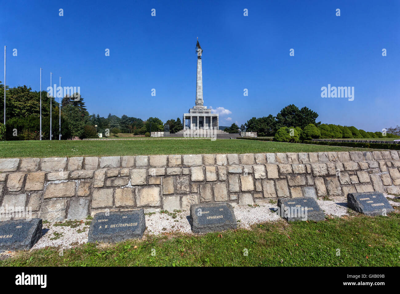 Hill Slavin, a monument to Soviet soldiers killed in World War II