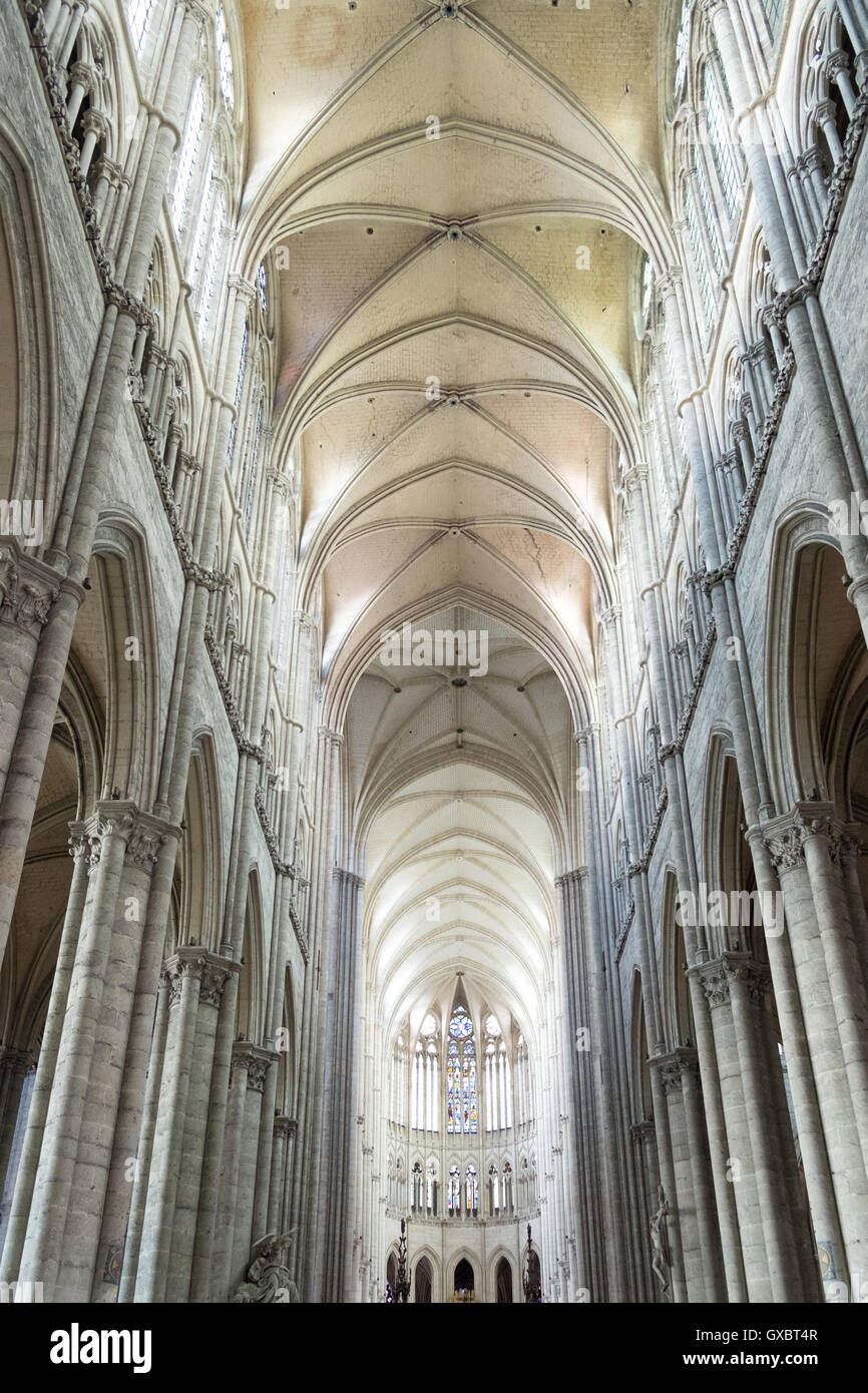 Laon Cathedral, (Cathedrale Notre-Dame de Laon). France. Stock Photo