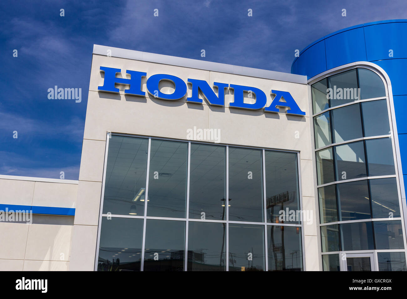 Honda Motor Dealer Sign Stock Photos