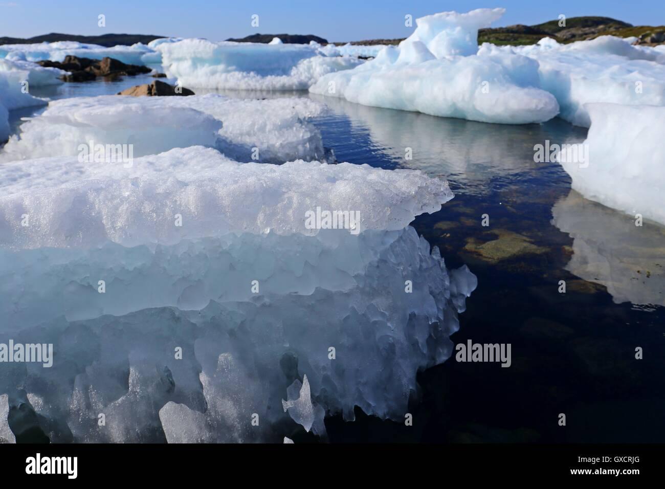 drift ice - Stock Image