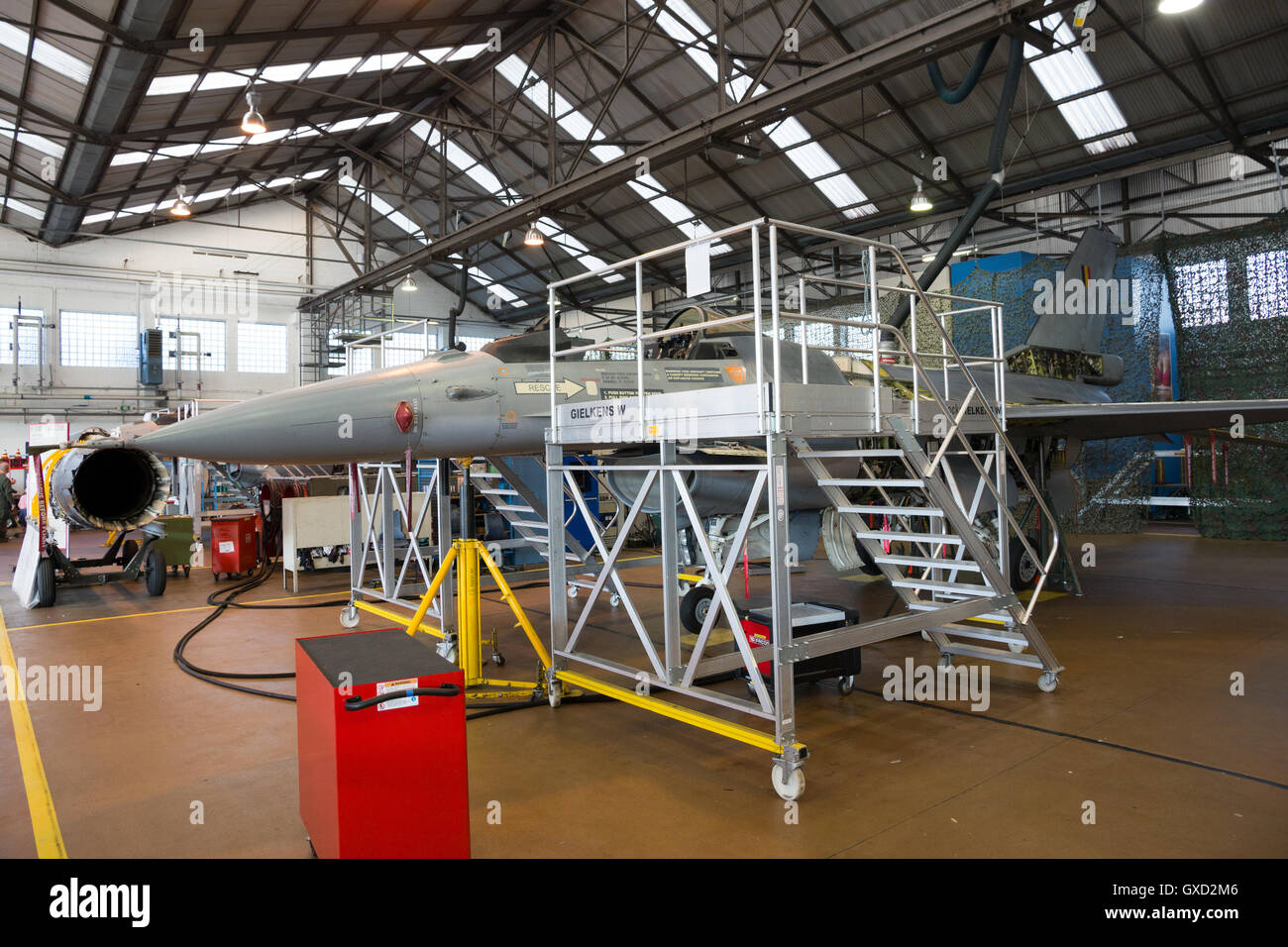 Belgian Air Force F-16 overhaul Stock Photo