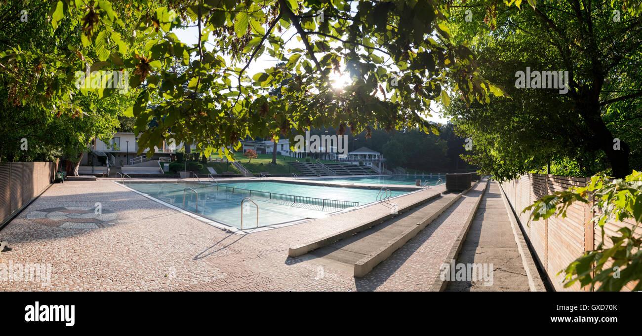 Schönbrunnerbad swimming pool in Vienna Stock Photo