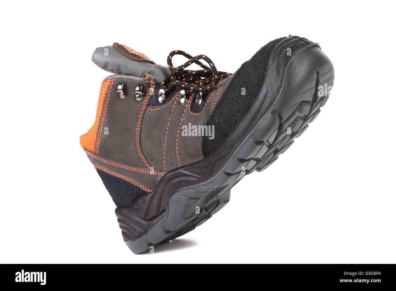 New brown working boot. - Stock Image