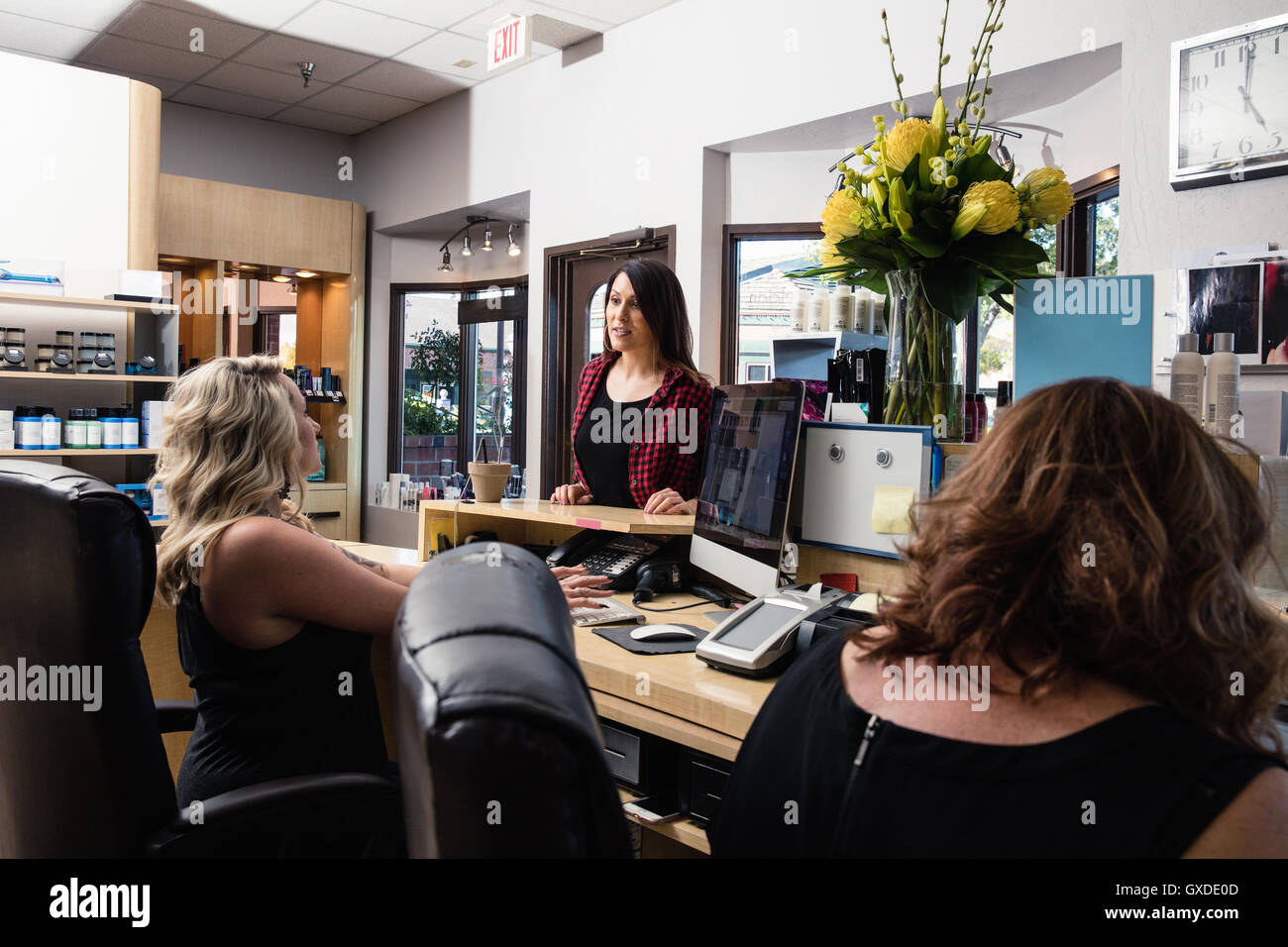 hair salon receptionist