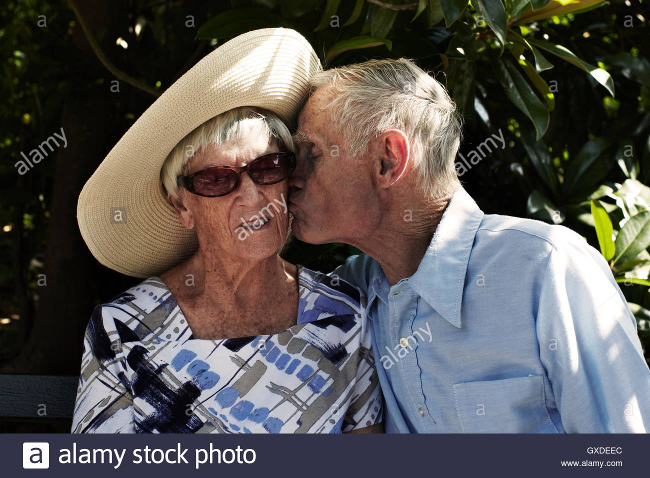 Romantic Couple Kissing On Cheek Stock Photos Amp Romantic