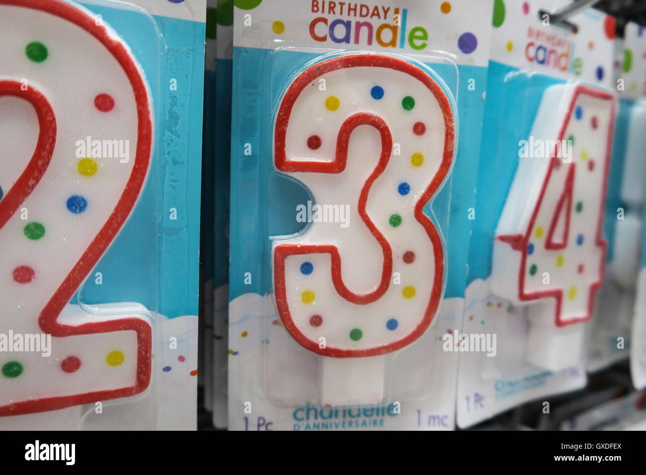 Number 3 Birthday Candle Party City NYC