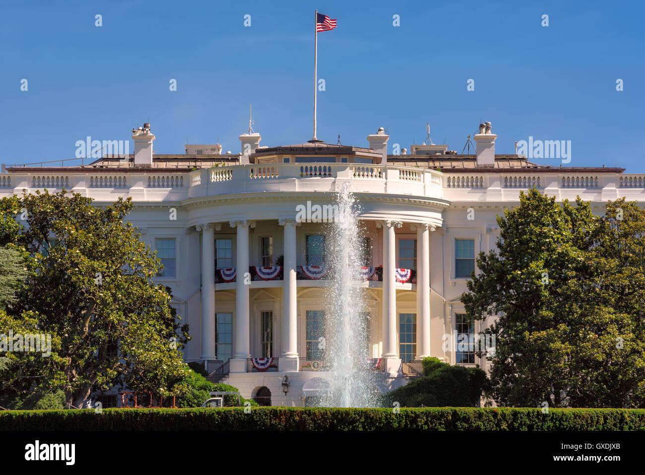 The White House in Washington DC - Stock Image