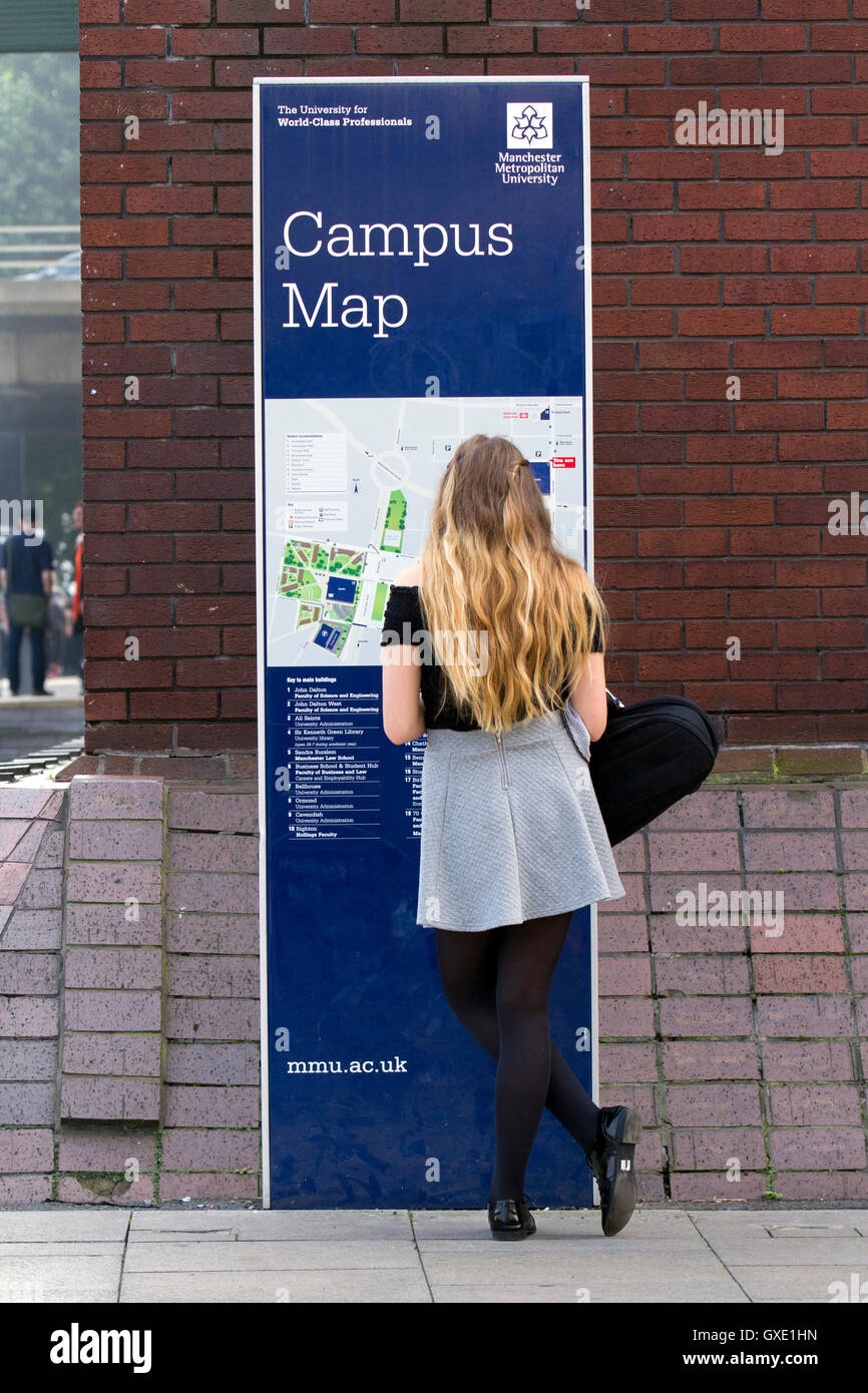 University Of Manchester Campus Map.Female Student Arrivals Campus Map At The Metropolitan University