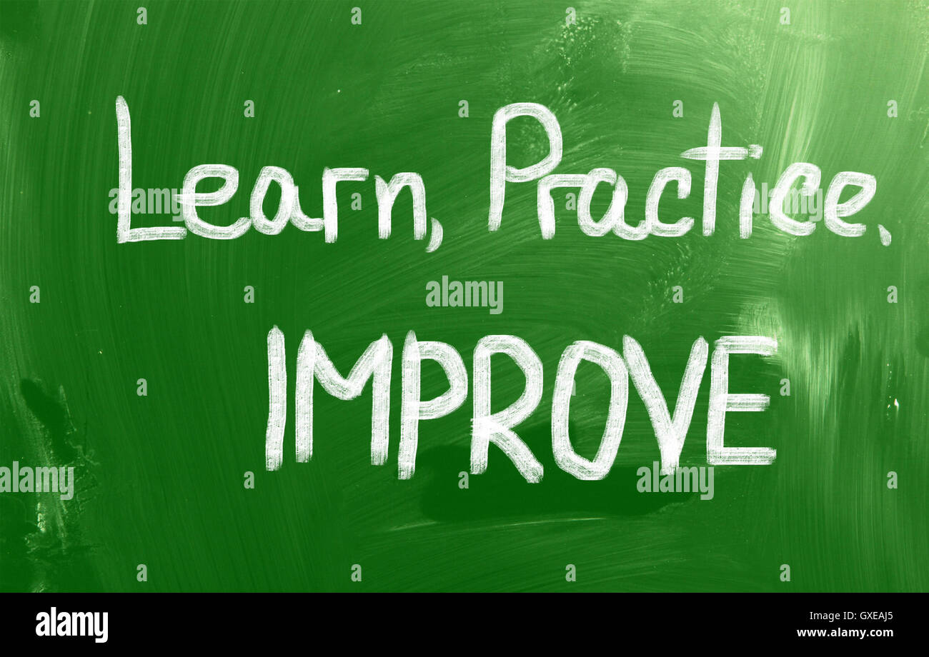 Learn Practice Improve Concept - Stock Image